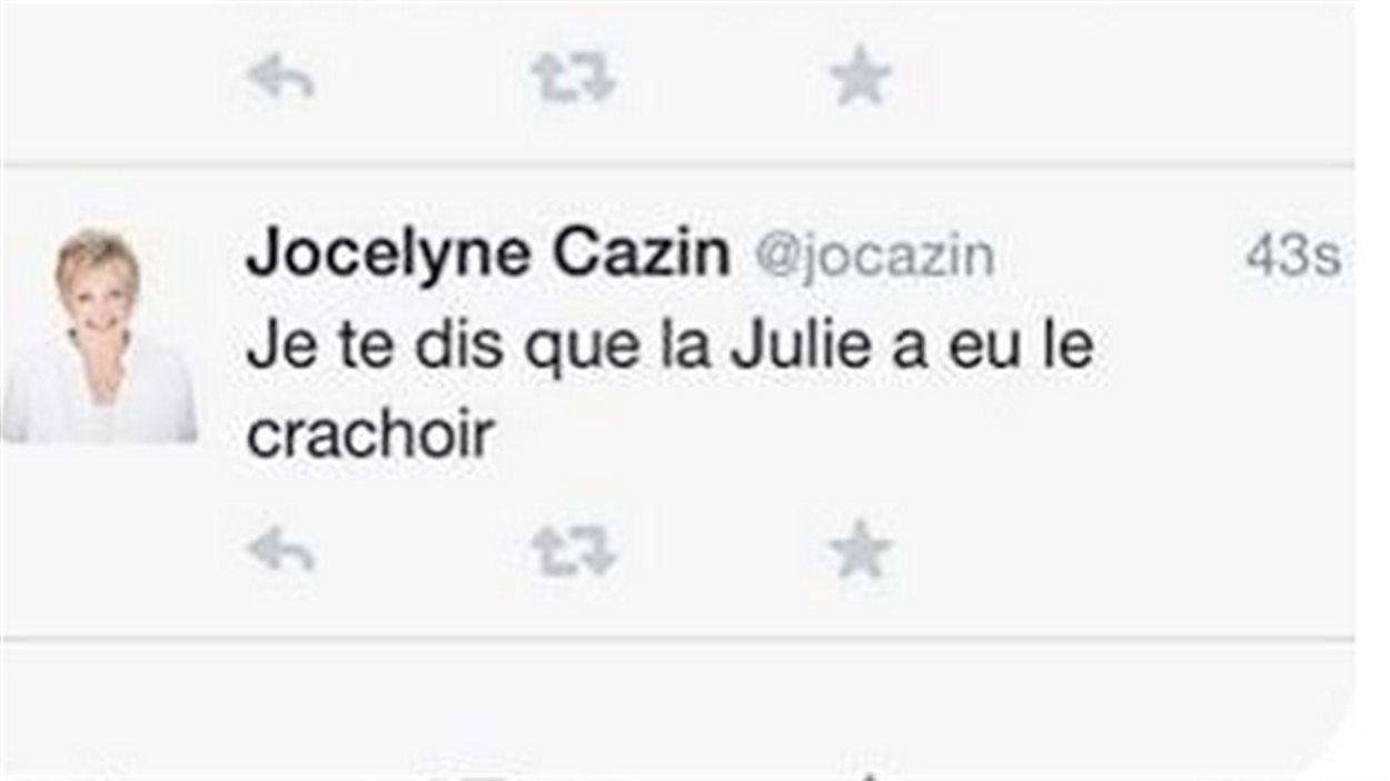 Tweet Jocelyne Cazin