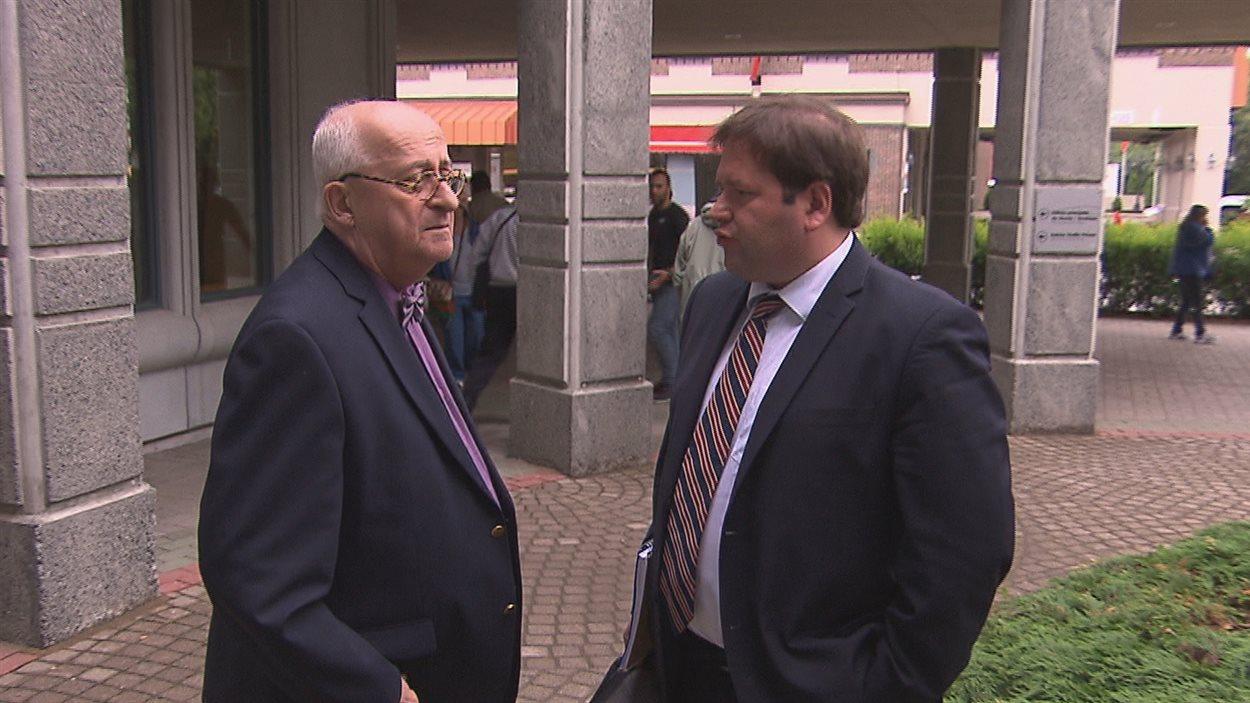 Me René Duval et son client, Martin Gélinas