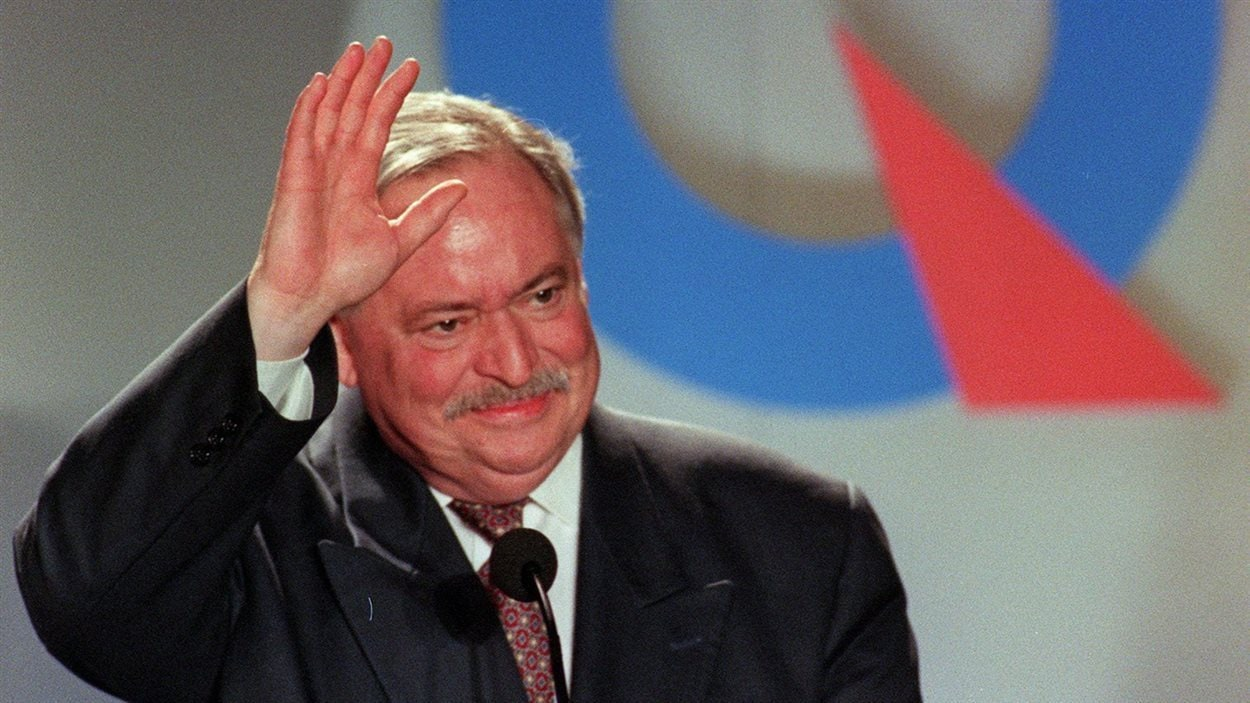 L'ancien premier ministre du Québec, Jacques Parizeau en 1995.