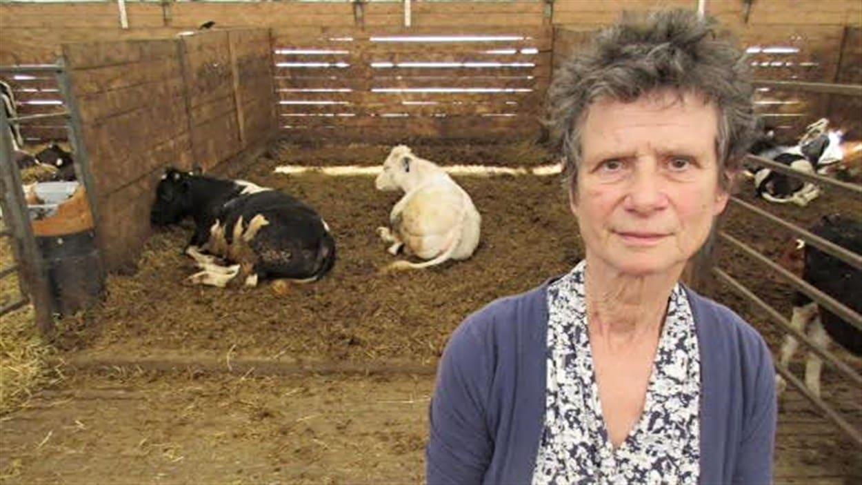 Marie Goubau, propriétaire de la ferme La Gantoise