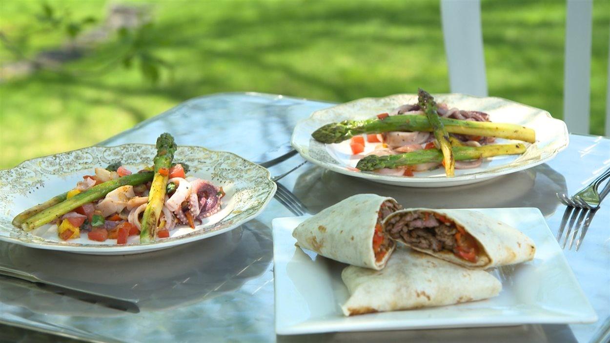Recette de salade de calmars et tortilla