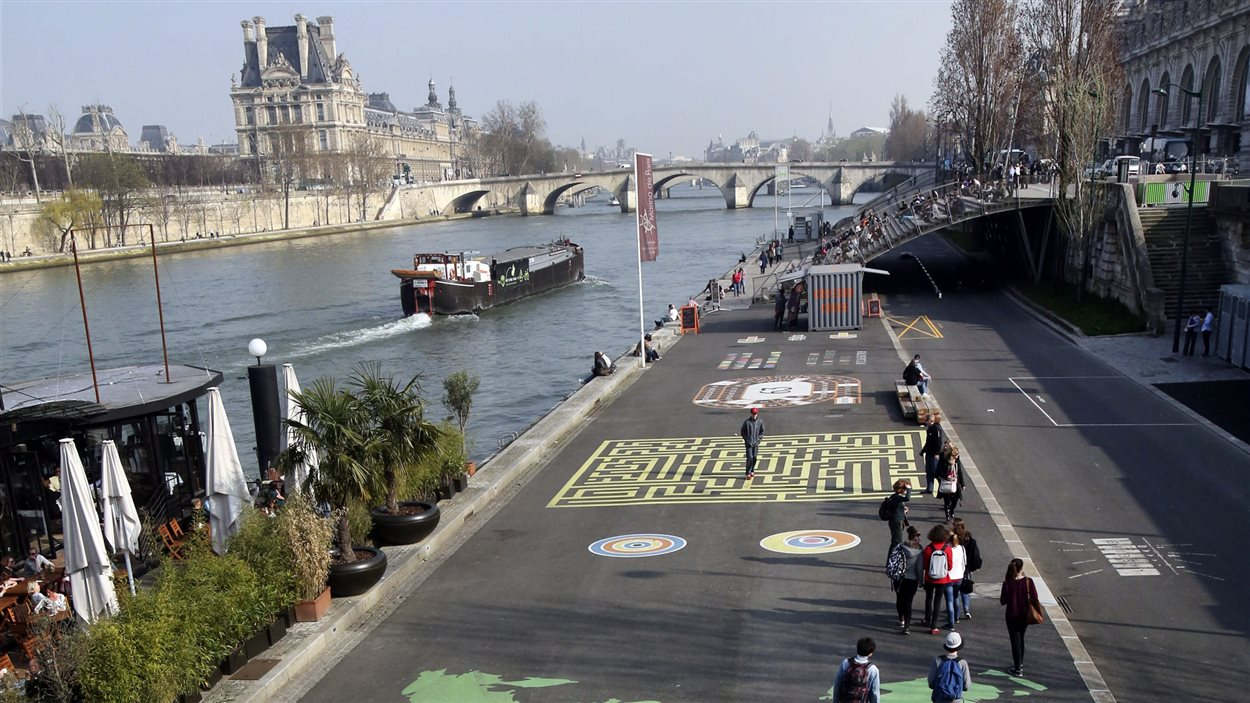 La promenade de la rive gauche de la Seine
