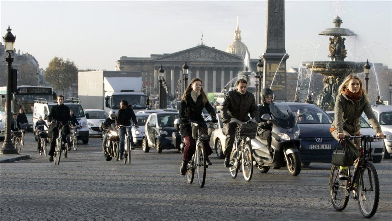 De plus en plus de Parisiens se déplacent en vélo