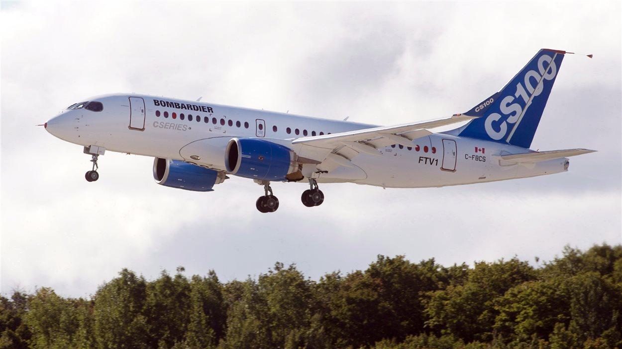 Un avion C-Series100 de Bombardier.