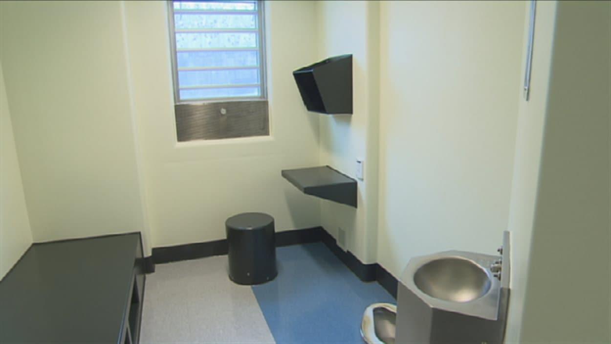L'intérieur d'une cellule de la prison de Roberval