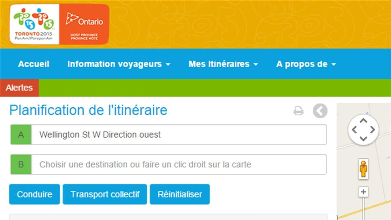 Le planificateur de déplacements des Jeux panam est offert en anglais, en français et en espagnol.