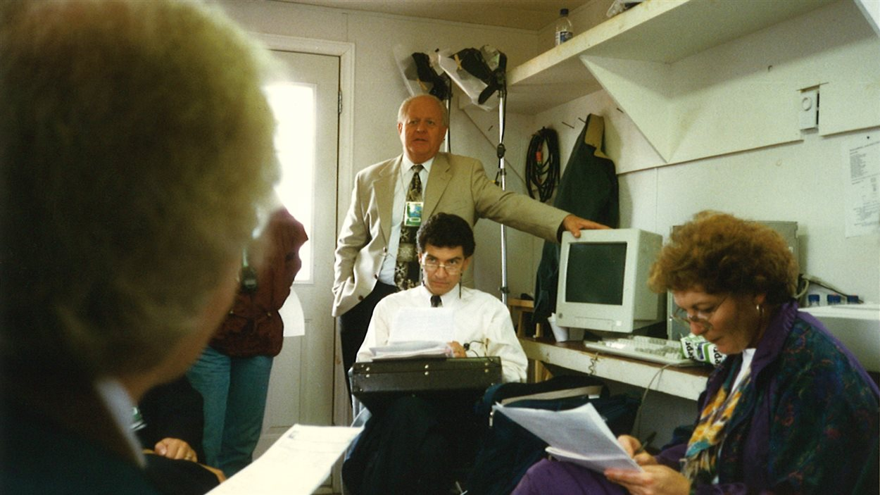 Abbé Lanteigne et William Bourque, 1997.
