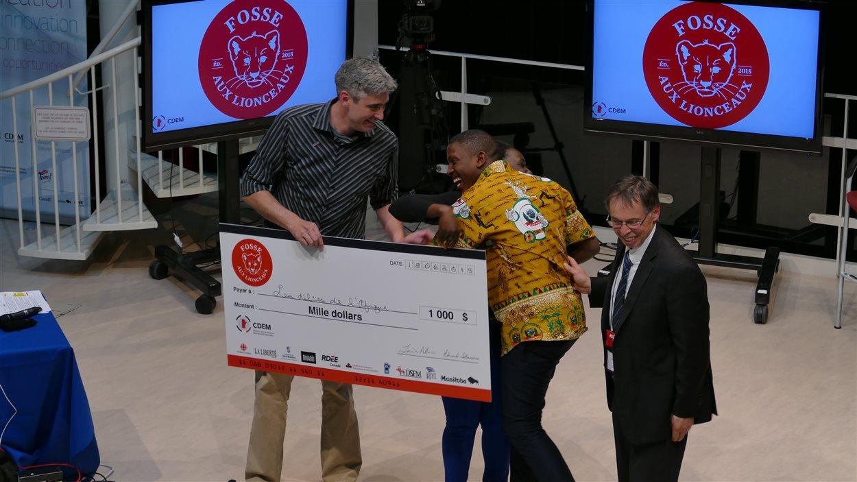 Serge Tamba et Nadine Zougmoré sont les gagnants du volet Fosse aux lionceaux avec Les régals de l'Afrique.