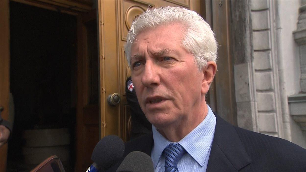 Le chef du Bloc québécois et ami de Jean Doré, Gilles Duceppe, a rendu hommage à l'ancien maire de Montréal, le 21 juin, à l'hôtel de ville.