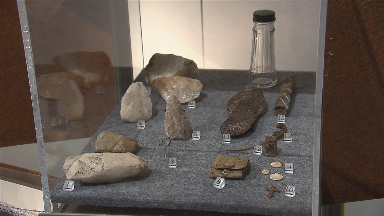 Des artefacts au Centre Archéo Topo de Bergeronnes