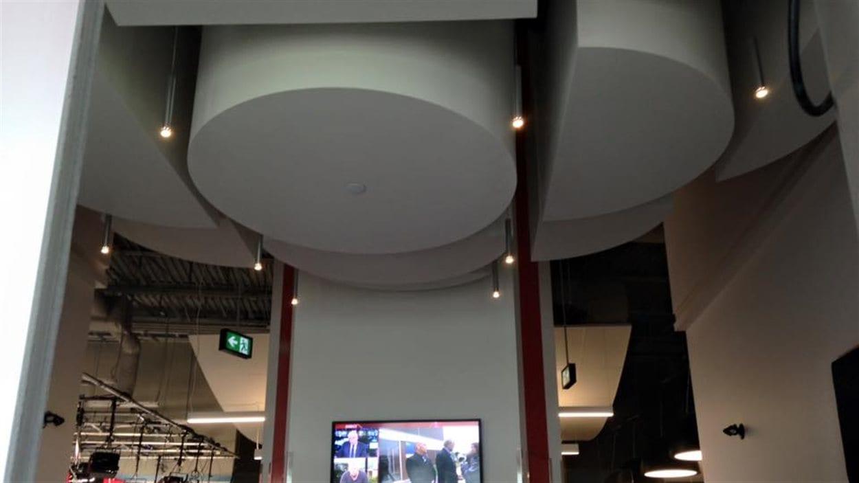 L'entrée de la station de Radio-Canada à Moncton.