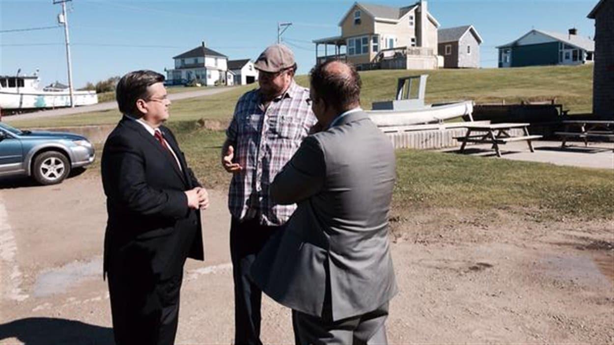 Visite du maire de Montréal, Denis Coderre, aux Îles-de-la-Madeleine