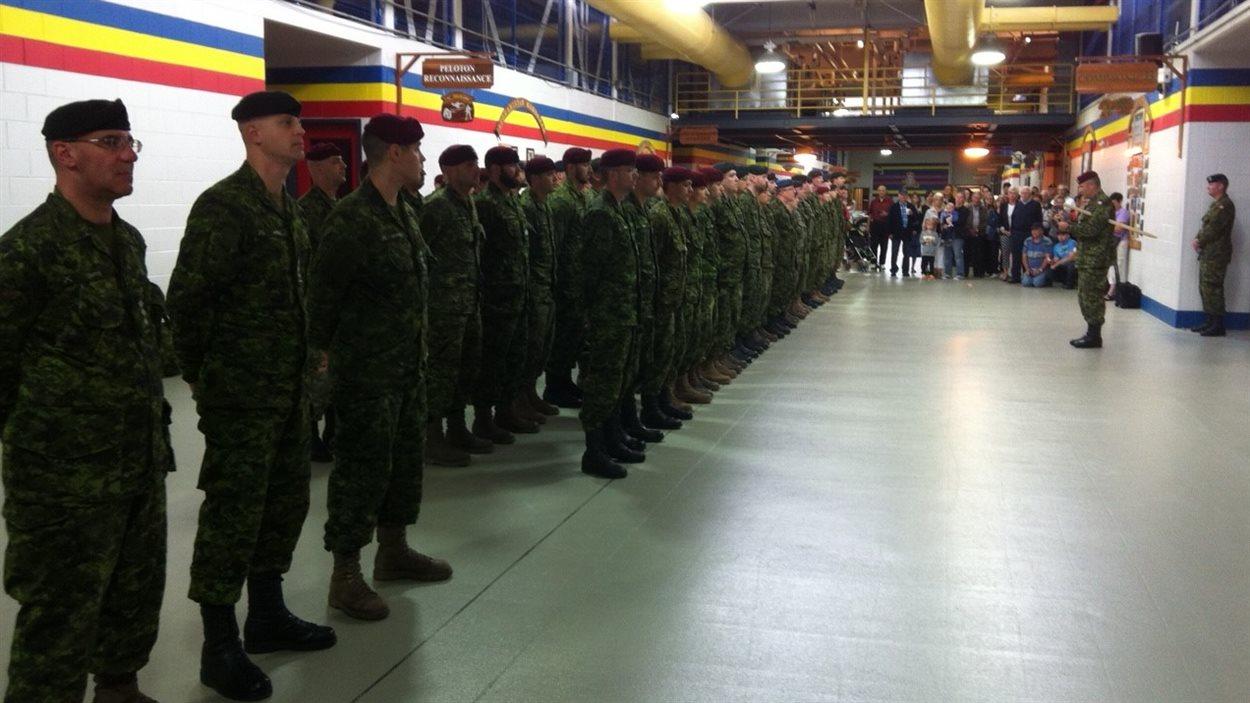 Au total, 200 militaires de Valcartier se rendront en Pologne. D'autres départs sont prévus en juillet.