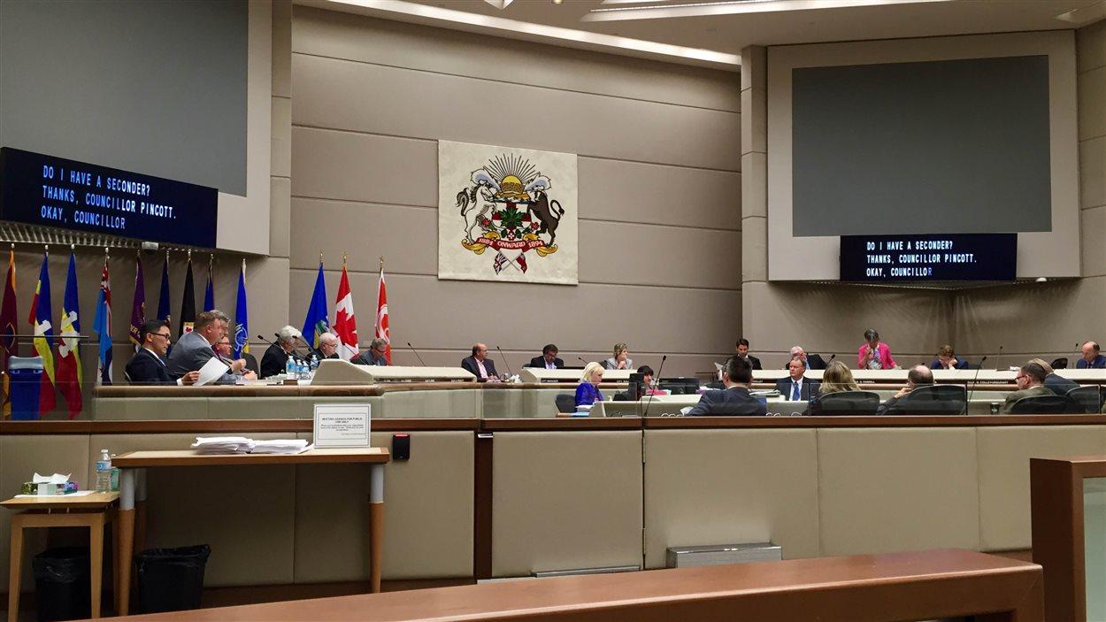 Le conseil municipal de Calgary.
