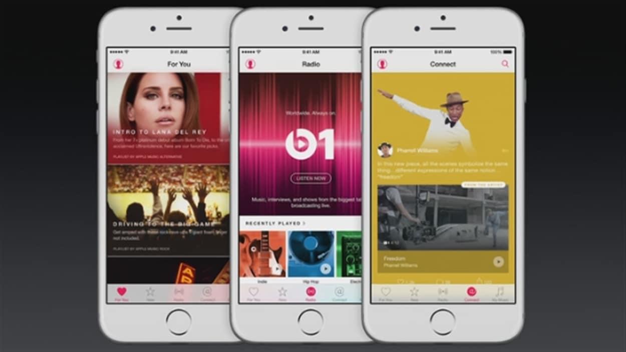 Le service de musique en continu Apple Music