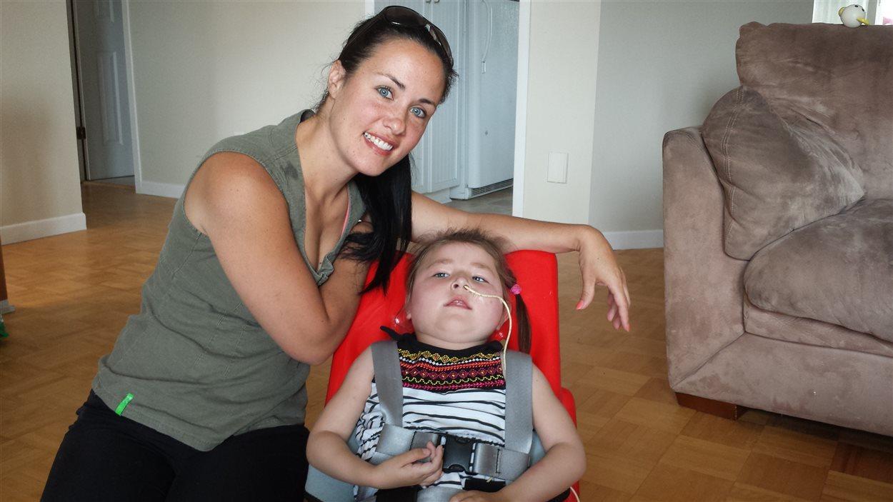 Mélanie Cossette et sa fille Sofianne