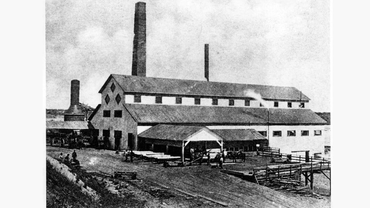 La scierie St. Maurice Lumber, vers 1890