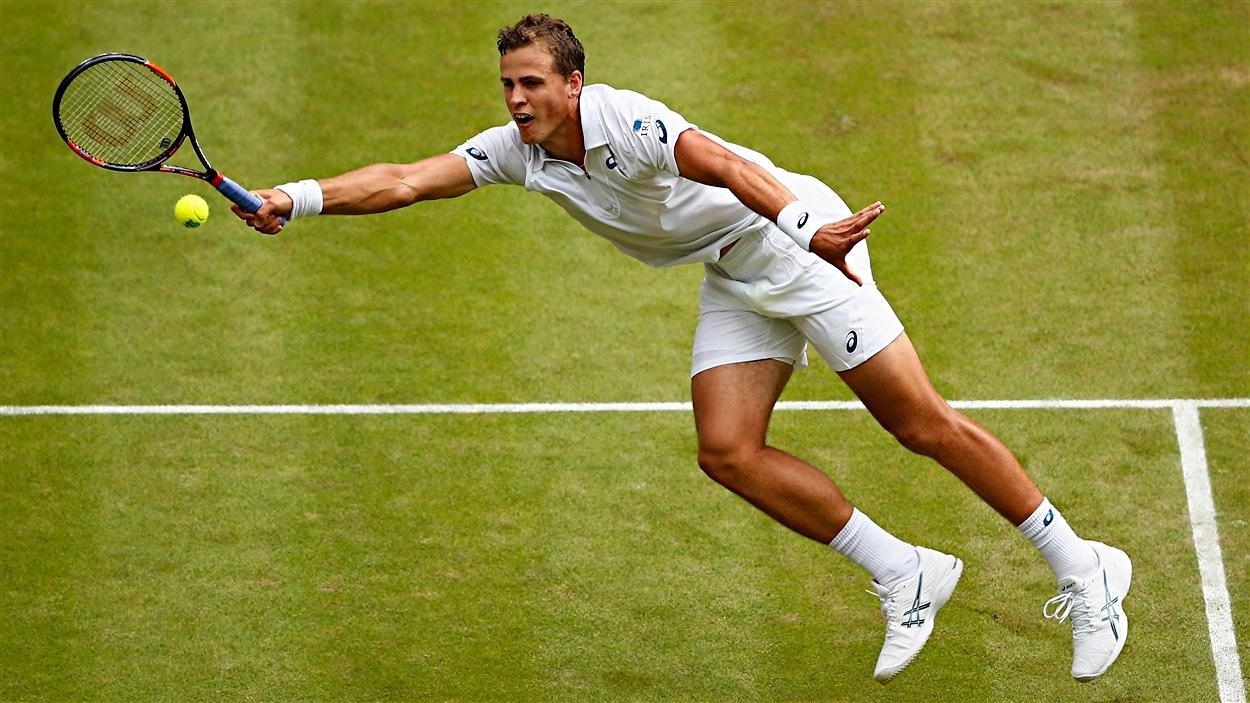 Vasek Pospisdil en quarts de finale à Wimbledon