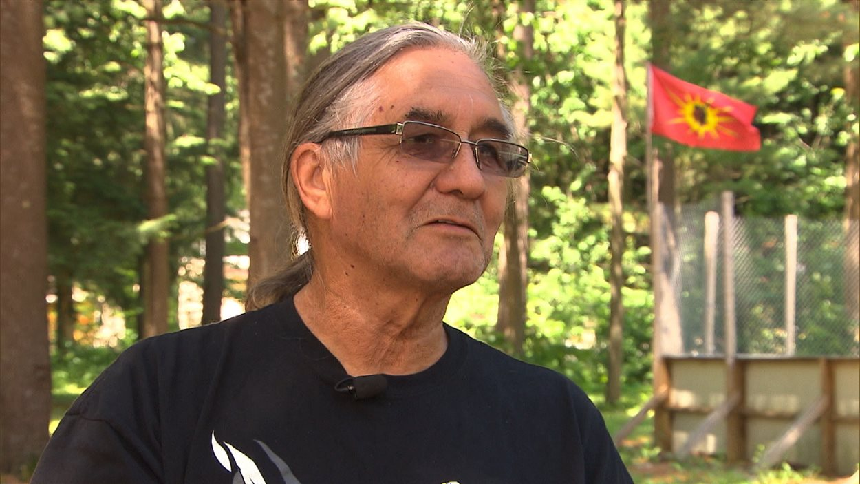 John Cree, leader spirituel des traditionalistes, Kanesatake.