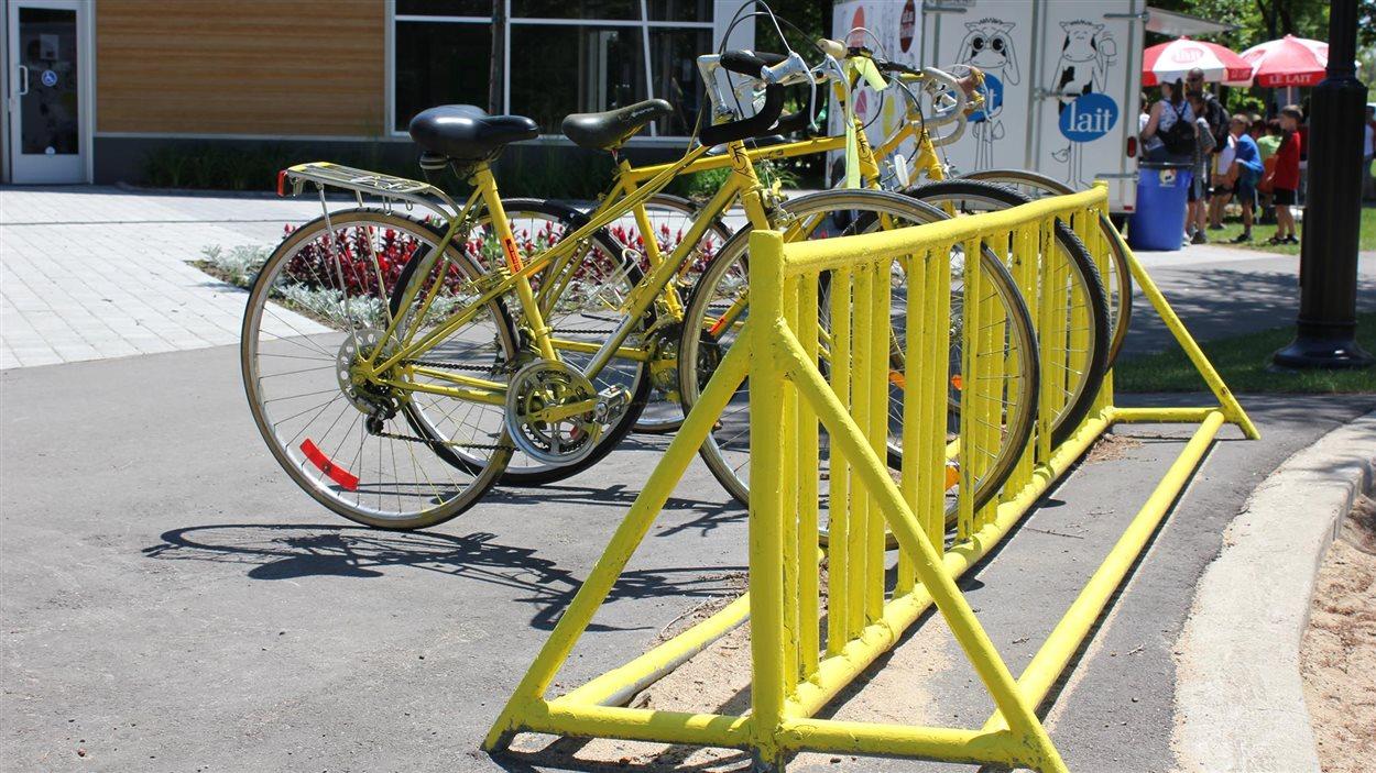 Vélos en libre-service au centre-ville de Joliette