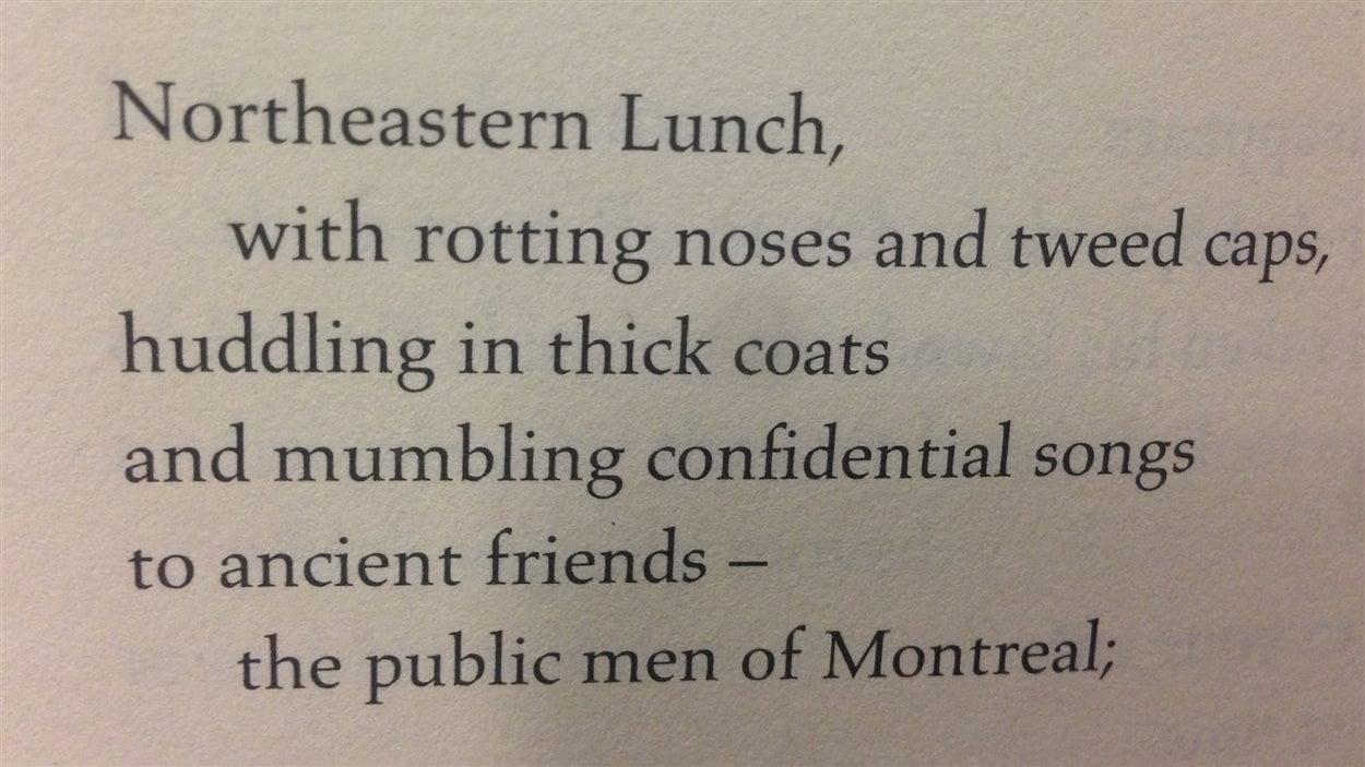 Première partie du poème «Les vieux» écrit par Leonard Cohen en 1954