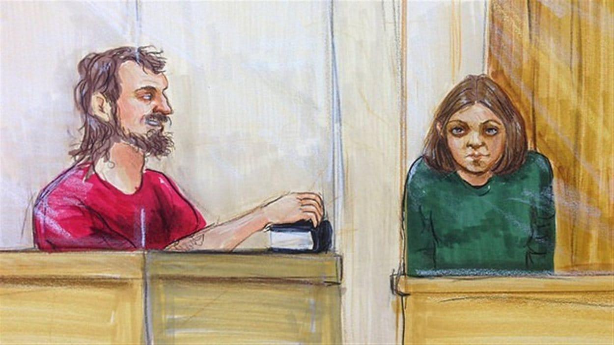Photo de John Nuttall et Amanda Korody pendant leur premier procès.