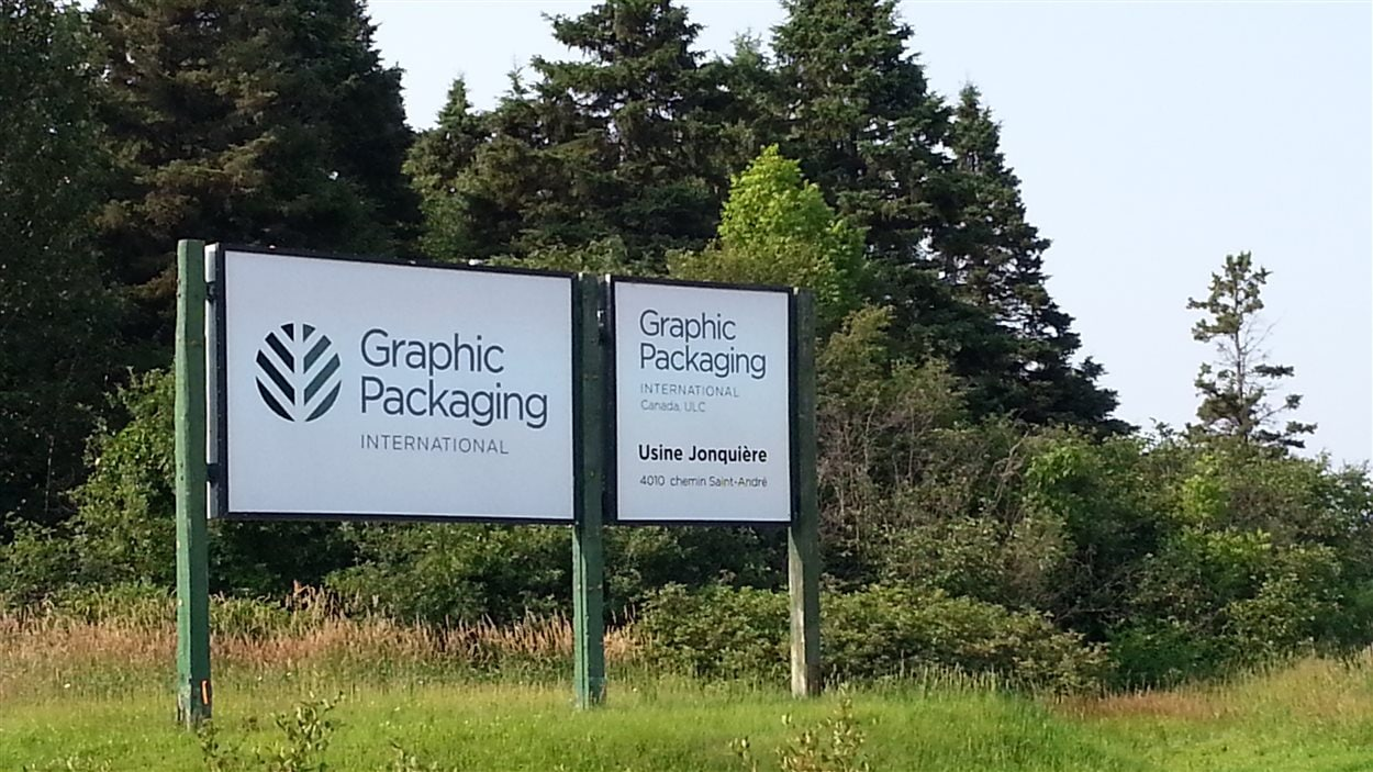La cartonnerie de Graphic Packaging de l'arrondissement de Jonquière