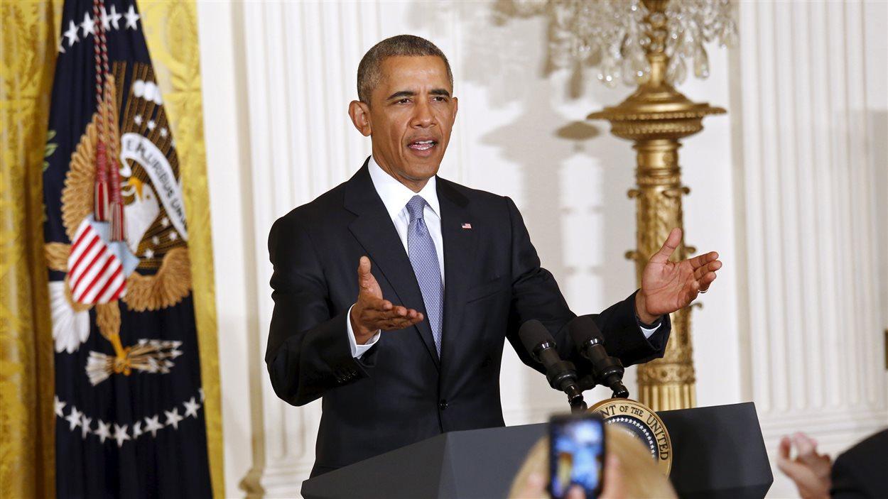 Le président américain, Barack Obama, a indiqué - lors de son allocution à la Maison-Blanche - que l'accord permet de s'assurer que l'Iran ne fabrique pas de bombe atomique.