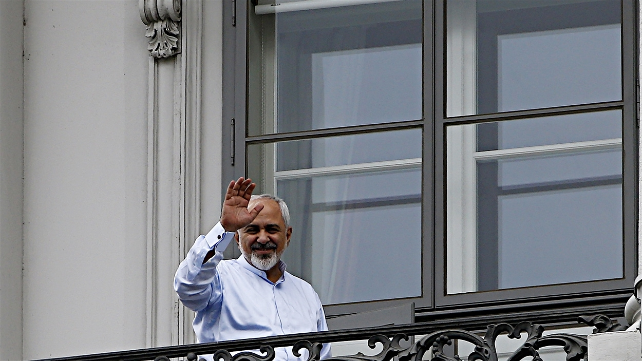 Le ministre des Affaires étrangères de l'Iran, Mohammad Javad Zarif, à Vienne