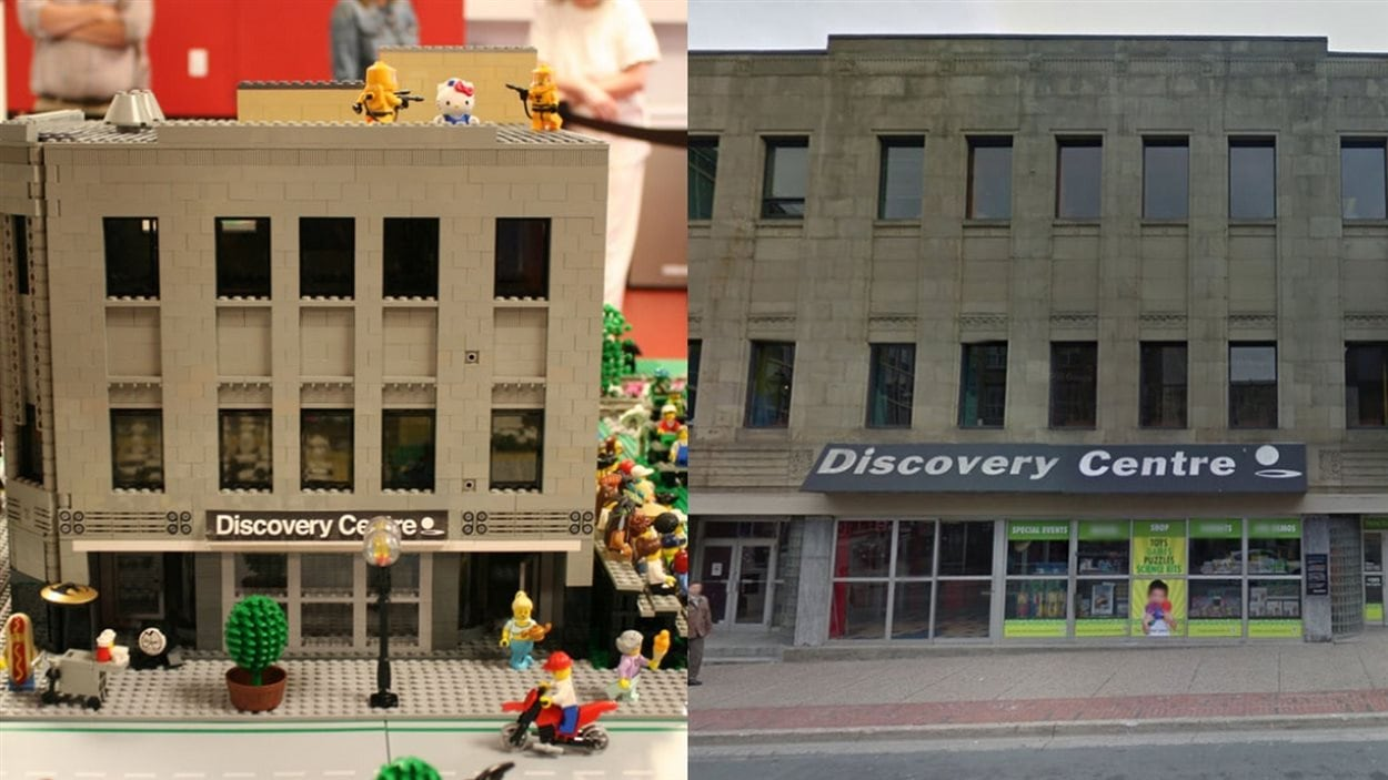 Le centre des sciences d'Halifax, version Lego.