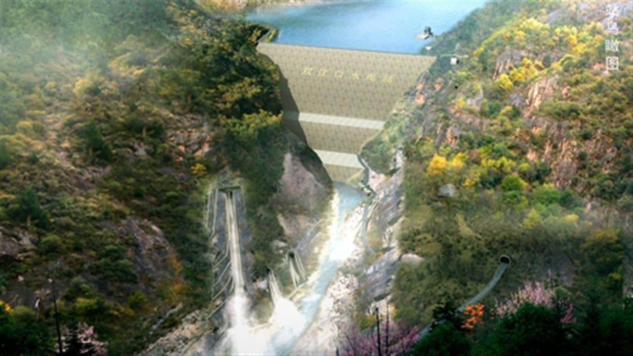 Le barrage de Shuangjiankou sera le plus haut du monde.