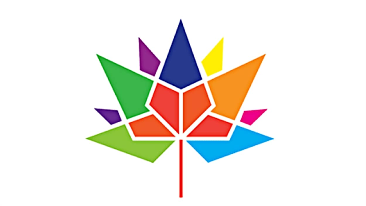 ?Le logo gagnant pour le 150e anniversaire de la Confdération canadienne, en 2017.
