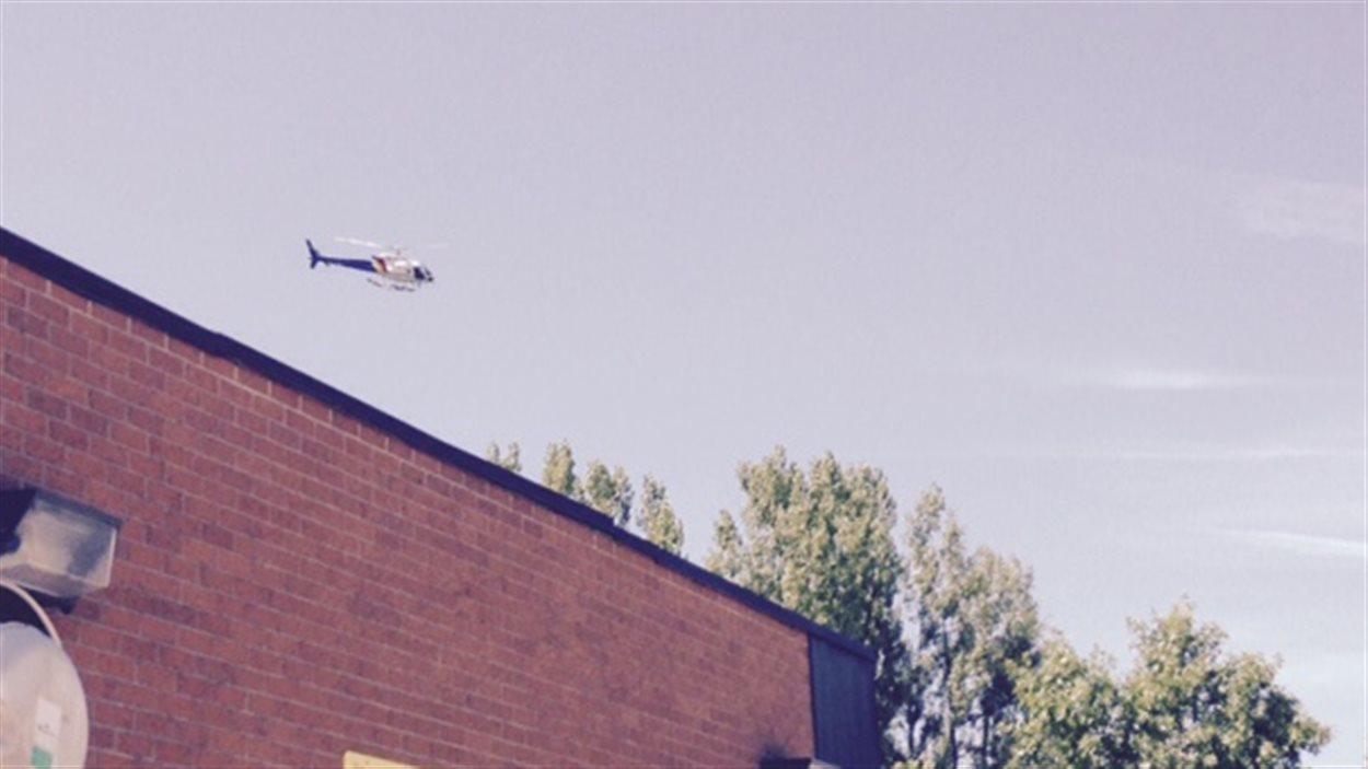 La GRC du Nouveau-Brunswick a déployé son hélicoptère dans la région de Woodstock, au Nouveau-Brunswick