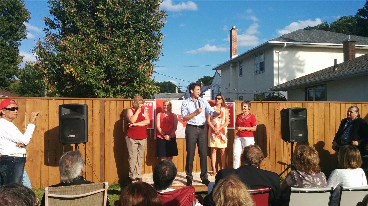 Le chef libéral, Justin Trudeau, a participé à un rassemblement dans la circonscription de Kildonan-St. Paul.