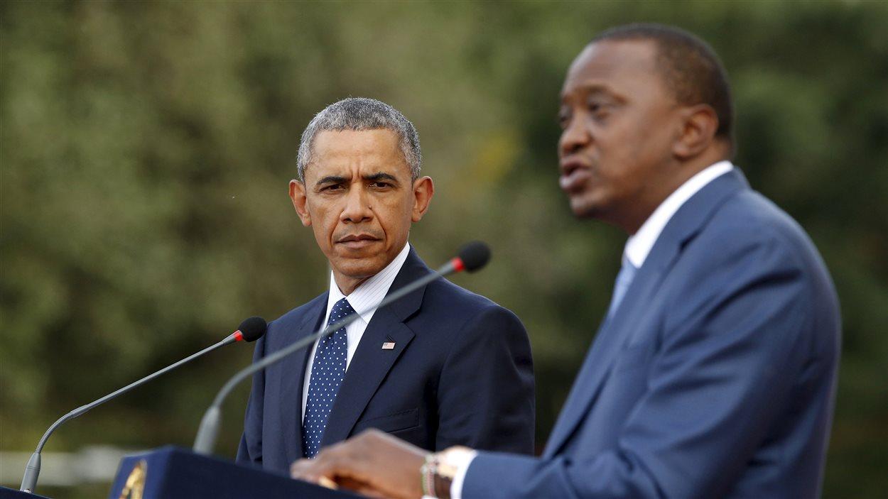 Le président américain, Barack Obama, et le président du kényan, Uhuru Kenyatta.