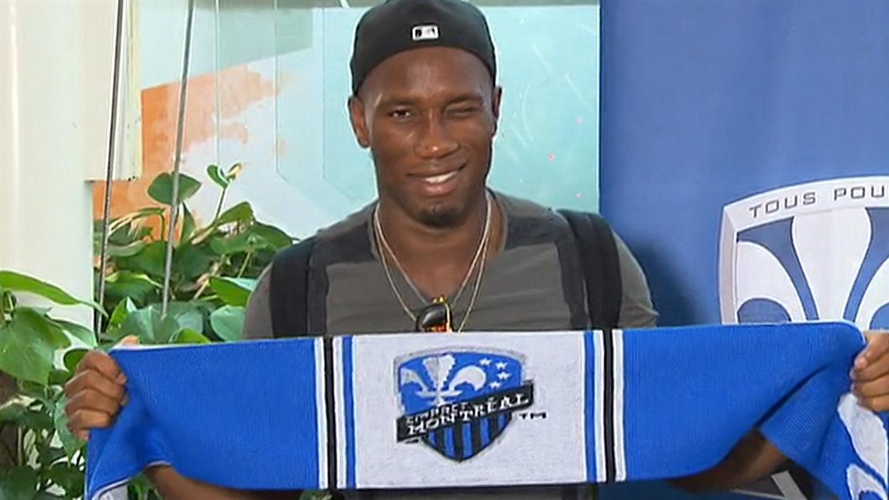 Didier Drogba, à son arrivée à Montréal
