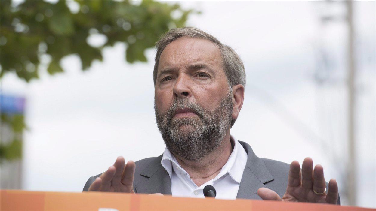 Le chef néo-démocrate Thomas Mulcair (archives)
