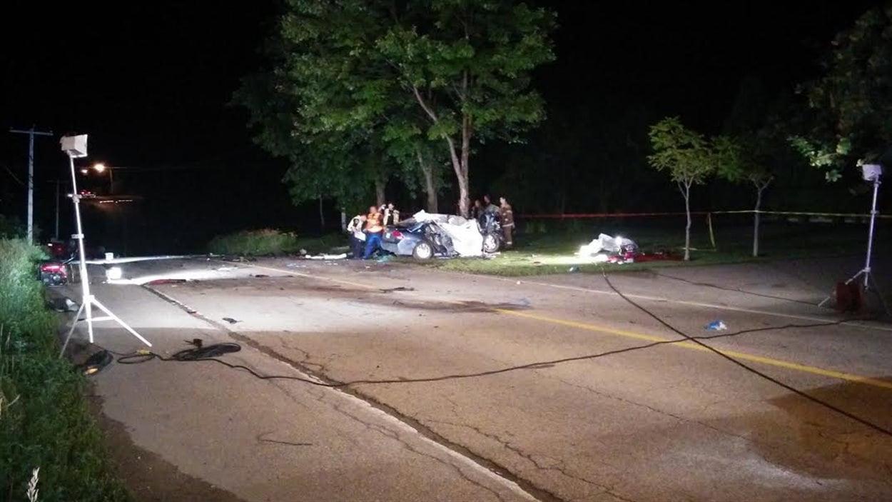 L'accident est survenu dans le rang Saint-Paul
