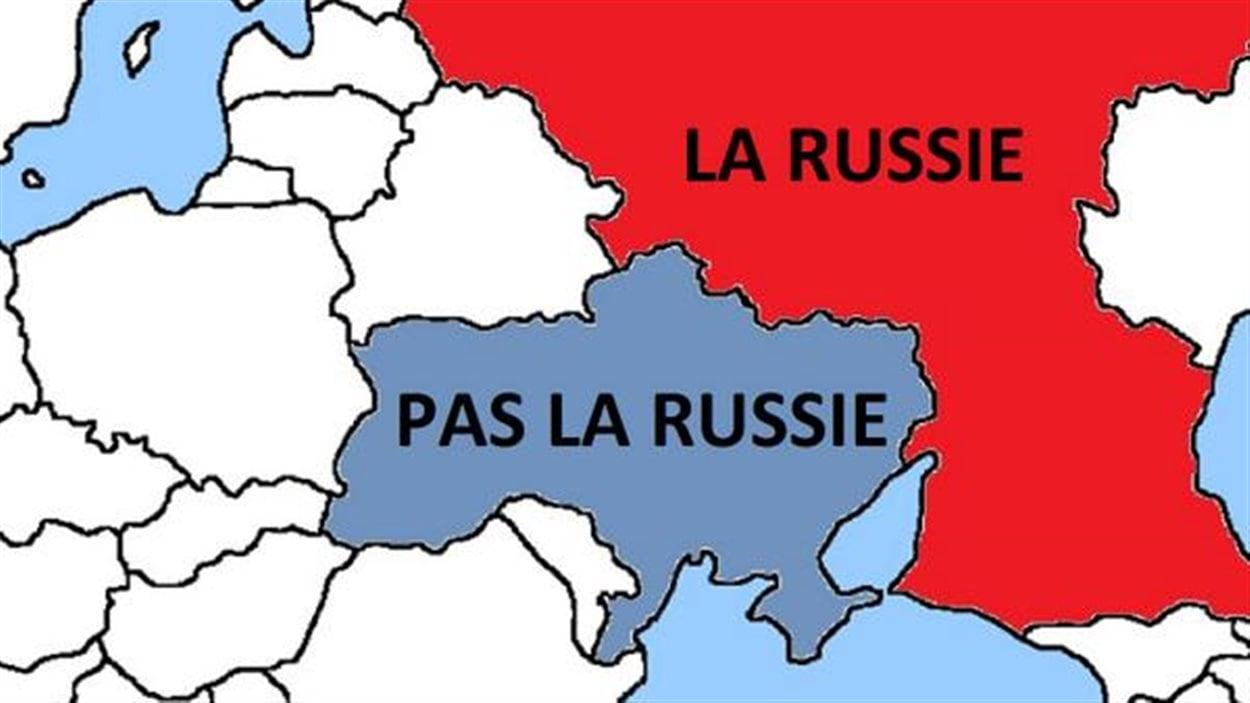 Sur un ton irrévérencieux, un stagiaire de la délégation canadienne à l'Otan a produit cette carte sur Twitter, destinée aux soldats russes.