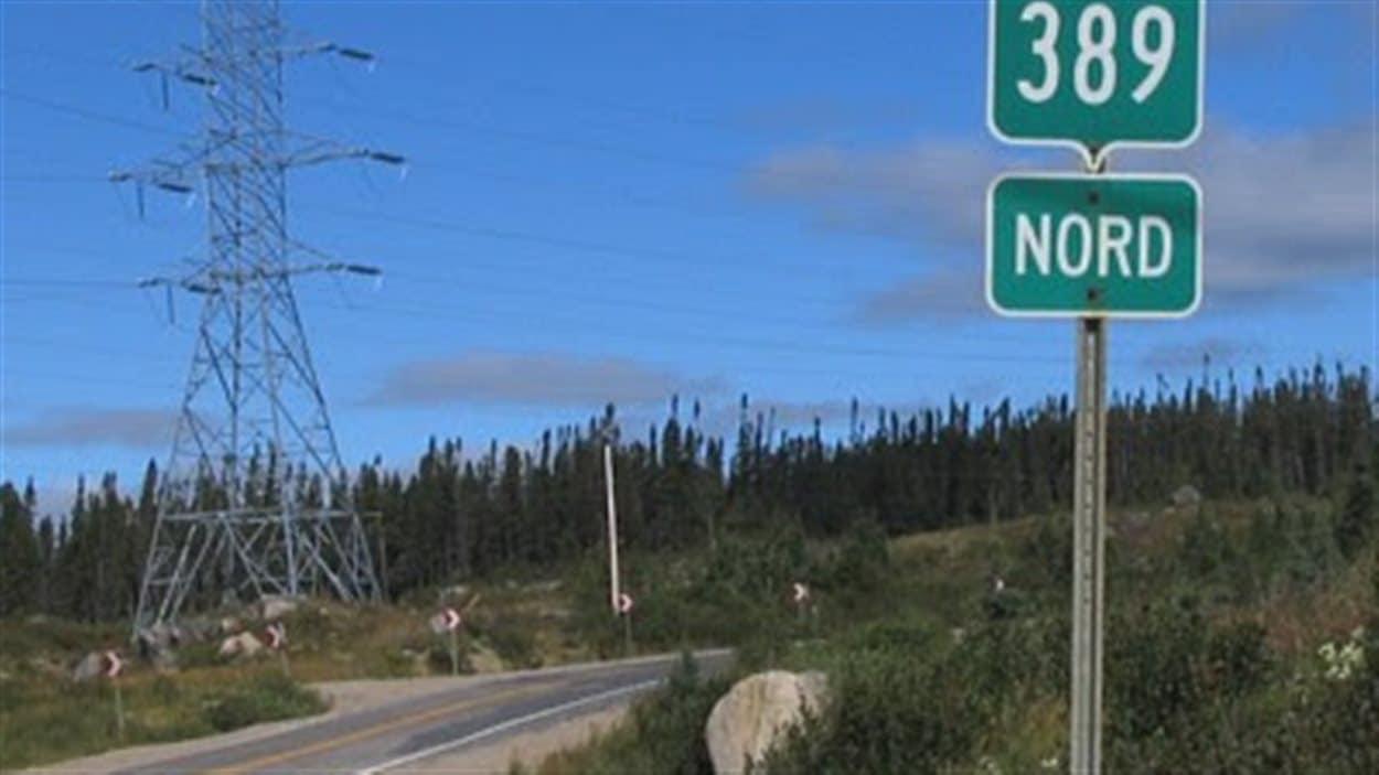 La route 389 relie Baie-Comeau et Fermont