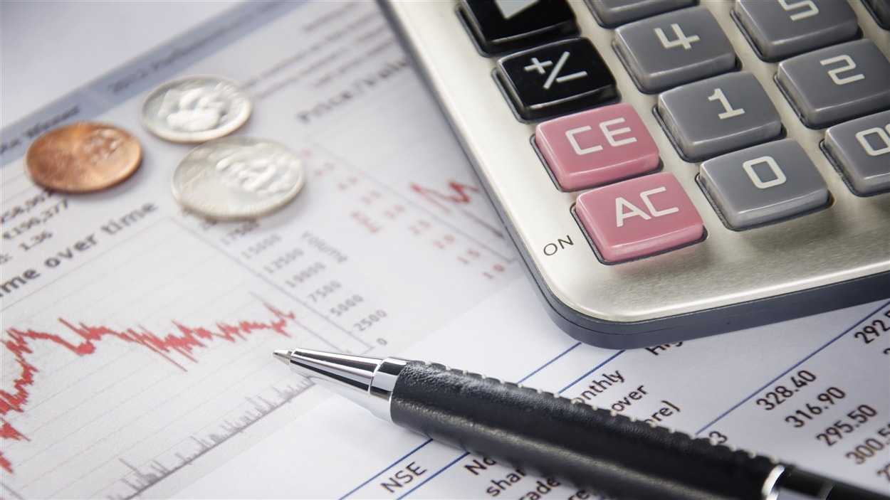 Un rapport financier avec de l'argent, un crayon et une calculatrice.