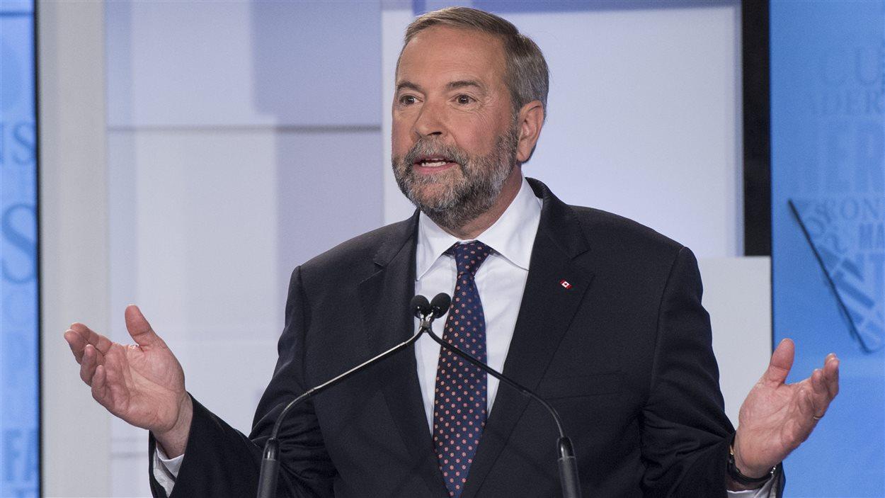 Le chef du Nouveau Parti démocratique, Thomas Mulcair