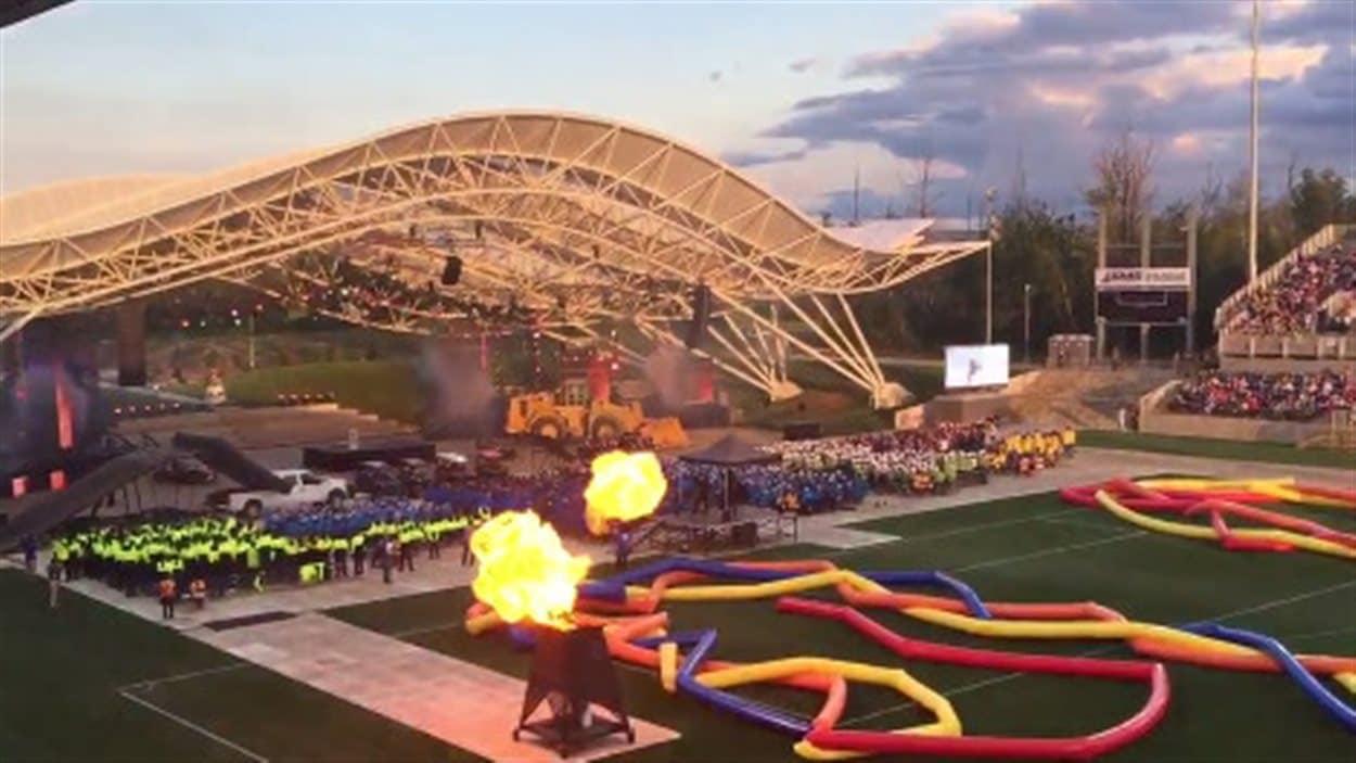 Cérémonies d'ouverture des Jeux d'été de l'Ouest canadien à Fort McMurray