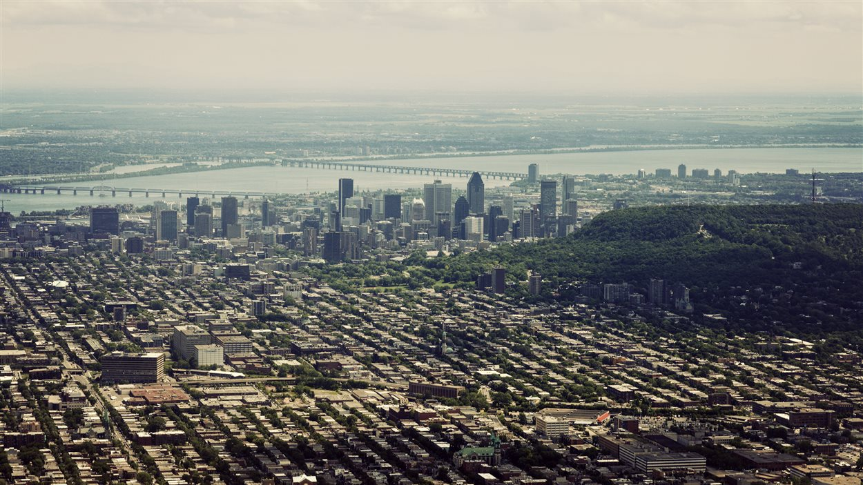 Vue aérienne de la ville de Montréal