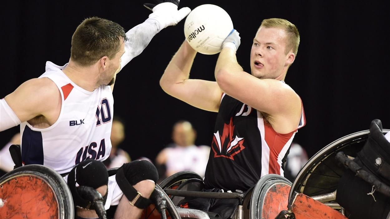 Zak Madell de l'équipe masculine de rugby en fauteuil roulant du Canada