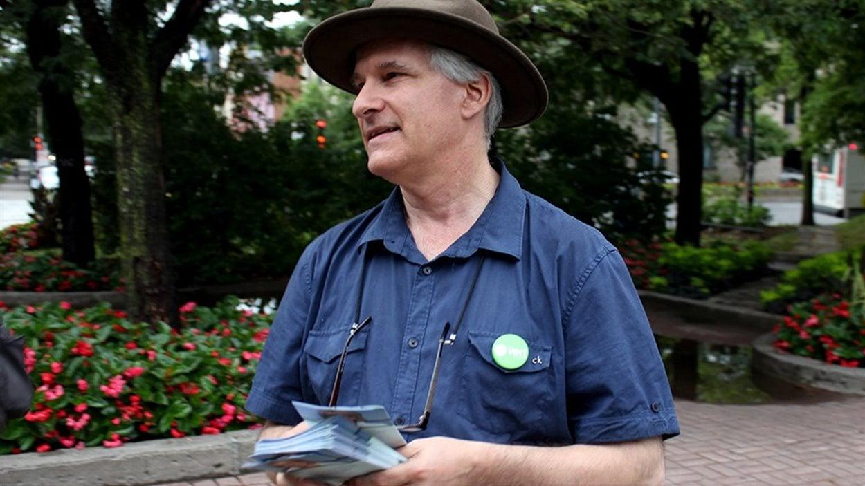 Daniel Green, candidat du Parti Vert du Canada aux élections fédérales dans Ville-Marie–Le Sud-Ouest–Île-des-Sœurs