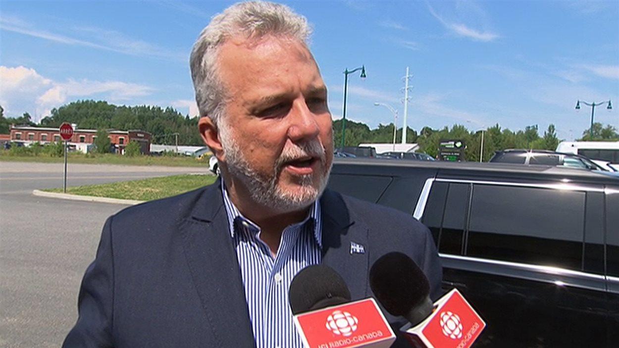 Le premier ministre, Philippe Couillard, à Shawinigan, le 15 août