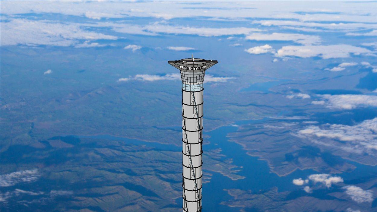 L'entreprise canadienne Thoth Technologies veut construire un ascenseur spatial pour envoyer des astronaute dans l'espace.