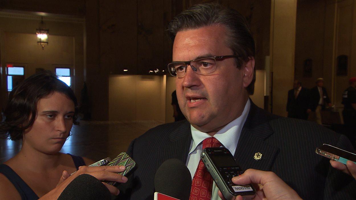 Le maire de Montréal, Denis Coderre, à l'hôtel de ville, le 18 août