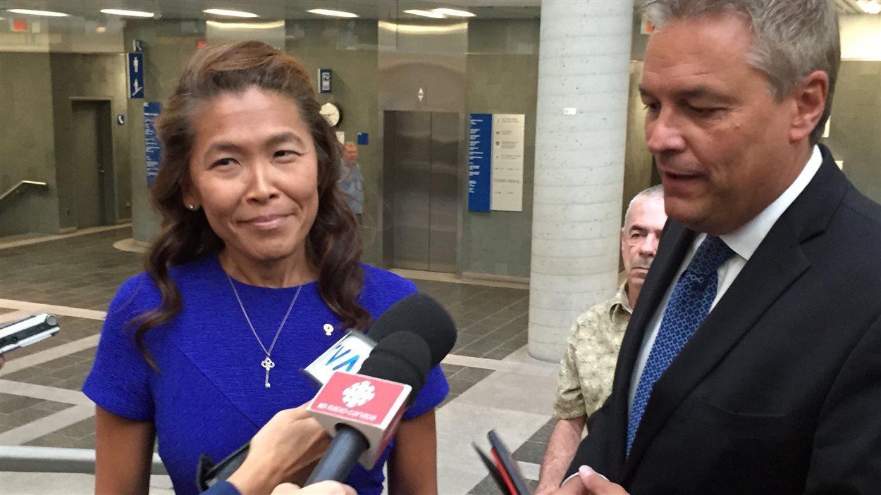 À son arrivée au palais de justice de Québec ce matin, Me Khuong a dit avoir bon espoir d'obtenir gain de cause contre le Barreau du Québec.